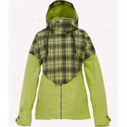 CREDENCE JACKET ALOE FADE OUT PLAID BURTON