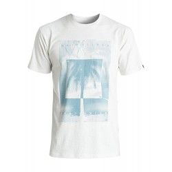 T-SHIRT QUIKSILVER HEATHER INVERTED SNOW WHITE HEATHER