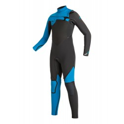 FATO DE SURF QUIKSILVER SYNCRO 3.2MM CHEST ZIP FULL WETSUIT GRAPHITE CYAN