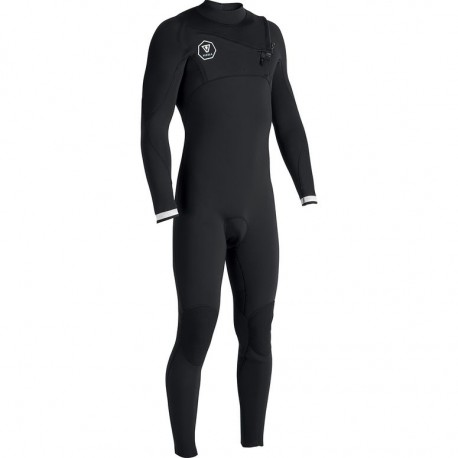 747ac23c312 FATO DE SURF VISSLA 7 SEAS 3.2MM FULL SUIT CHEST ZIP BLACK WHITE ...