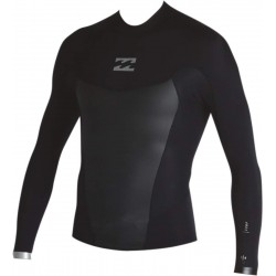 TOP DE SURF BILLABONG ABSOLUTE COMP 2MM BACK ZIP SPRING LONG SLEEVE BLACK