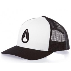 BONÉ NIXON ICONED TRUCKER WHITE BLACK