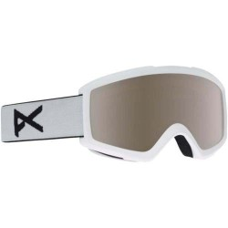 GOGGLES SNOWBOARD ANON HELIX 2.0 WHITE SILVER AMBER W SPARE LENS