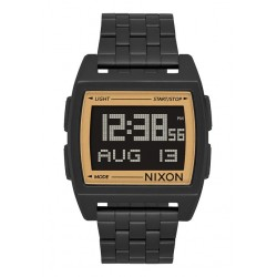RELÓGIO NIXON BASE ALL BLACK/GOLD