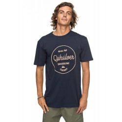 T-SHIRT QUIKSILVER CLASSIC MORNING NAVY BLAZER